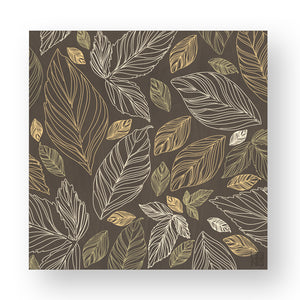 NATURE LEAVES INLAYED WOOD WALL PANEL