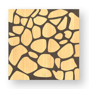 NATURE STONES INLAYED WOOD WALL PANEL