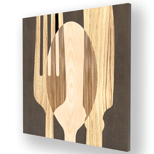 OBJECTS SOVRAPOSATE INLAYED WOOD WALL PANEL