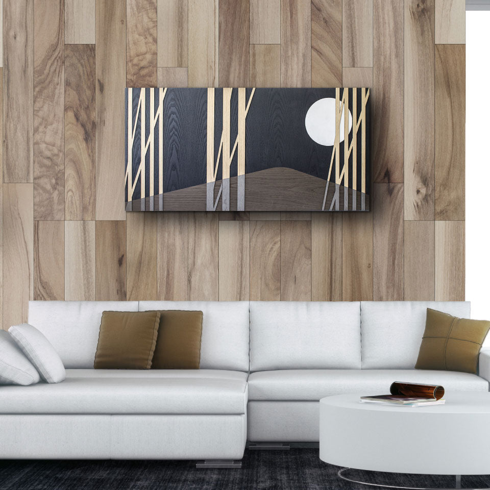 CAPRICCIO MOON INLAYED WOOD PICTURE