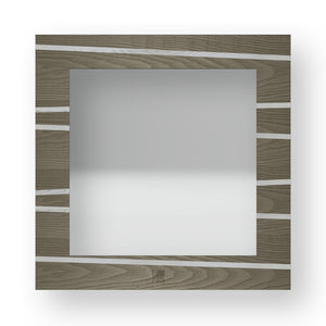 LINES ONE INLAYED WOOD MIRROR
