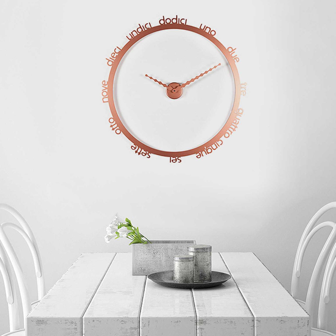 HOOP WALL CLOCK