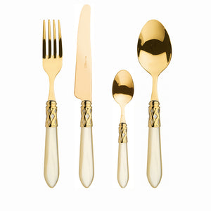 ALADDIN GOLD-PLATED 24KT 24 PIECE CUTLERY SET