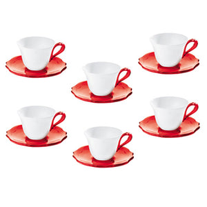 BELLE EPOQUE SET OF 6 COFFEE CUPS BY GUZZINI - Luxxdesign.com