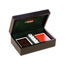 BLACK DOLLAR LEATHER CARD BOX BY RENZO ROMAGNOLI - Luxxdesign.com