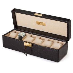 CROCCO LEATHER CASE FOR 6 WATCHES BY RENZO ROMAGNOLI - Luxxdesign.com - 1