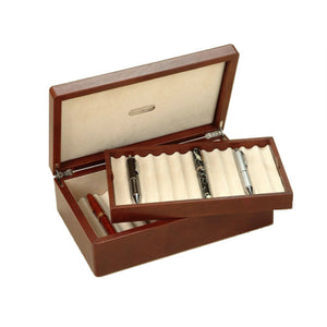 BROWN LEATHER CASE FOR 24 PENS BY RENZO ROMAGNOLI - Luxxdesign.com