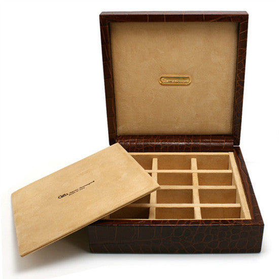 BROWN CUFFLINK BOX BY RENZO ROMAGNOLI - Luxxdesign.com