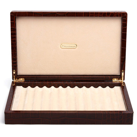 BROWN LEATHER BOX FOR 12 PENS BY RENZO ROMAGNOLI - Luxxdesign.com