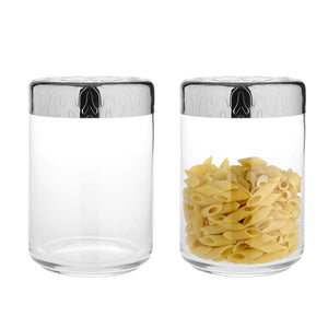 DRESSED GLASS JAR LARGE BY ALESSI - Luxxdesign.com