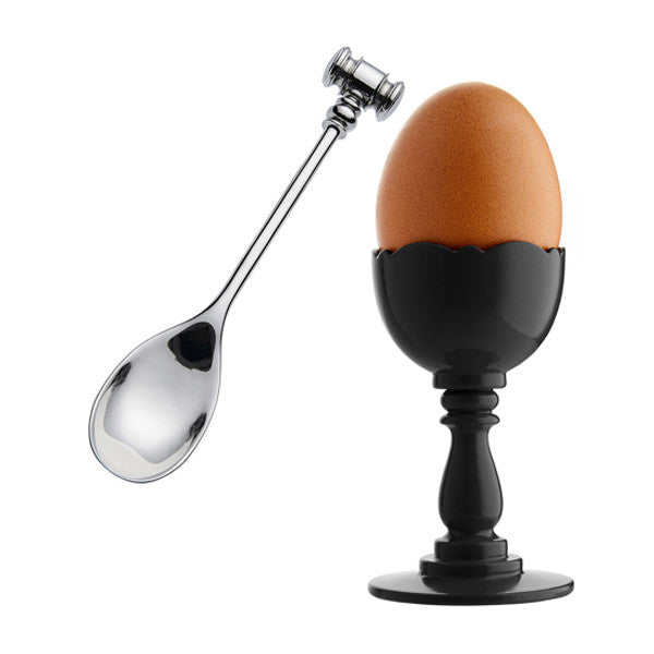 DRESSED EGG CUP WITH SPOON BY ALESSI - Luxxdesign.com - 1