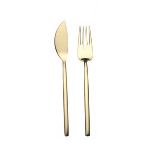 DUE ICE ORO 24-PIECE FISH CUTLERY SET BY MEPRA - Luxxdesign.com