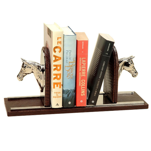 BOOKENDS THESIUS BROWN HORSE BY RENZO ROMAGNOLI - Luxxdesign.com