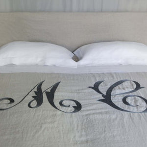 GILDA DOUBLE DUVET COVER IN WASHED LINEN BY MARINAC - Luxxdesign.com