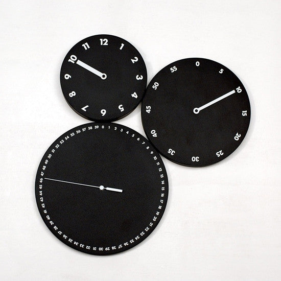 H:M:S WALL CLOCK BY PROGETTI - Luxxdesign.com