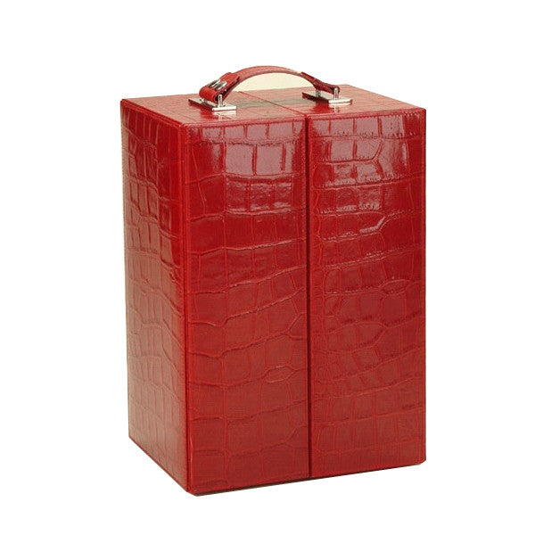 RED LEATHER HEMINGWAY CHAMPAGNE SET BY RENZO ROMAGNOLI - Luxxdesign.com - 1