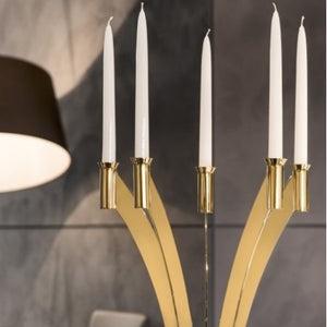 GOLD-PLATED CANDLEHOLDER 5 FLAMES