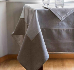 JACKIE TABLECLOTH PEARL GREY LINEN