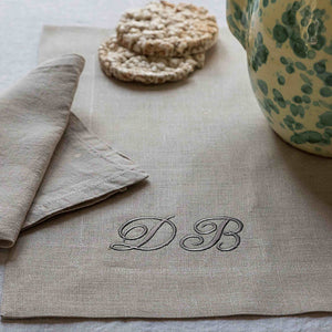 KIM PLACEMAT IN LINEN BY MARINAC - Luxxdesign.com - 1