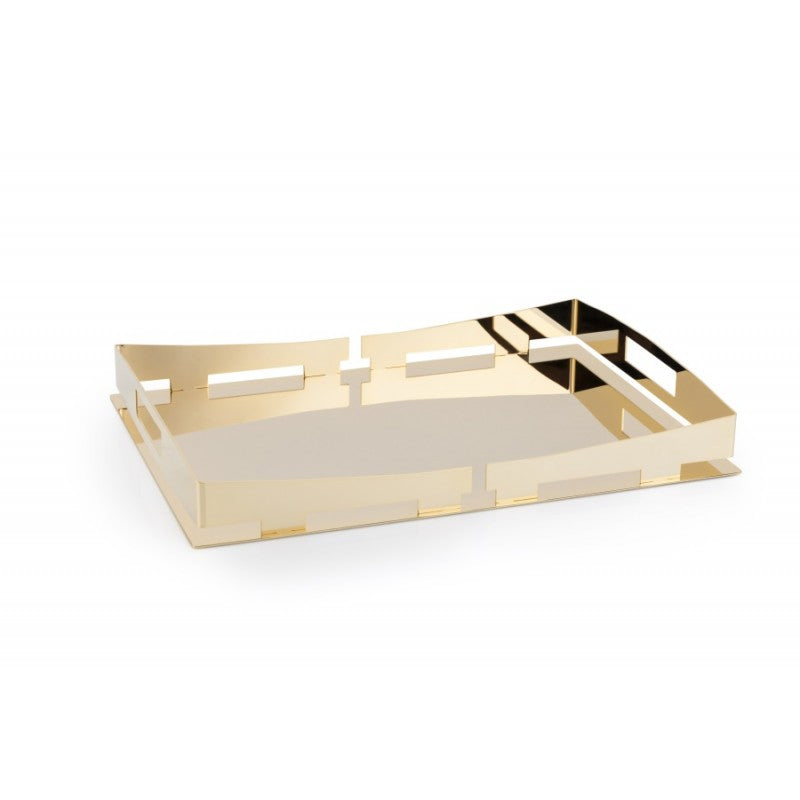 GOLD-PLATED RECTANGULAR TRAY