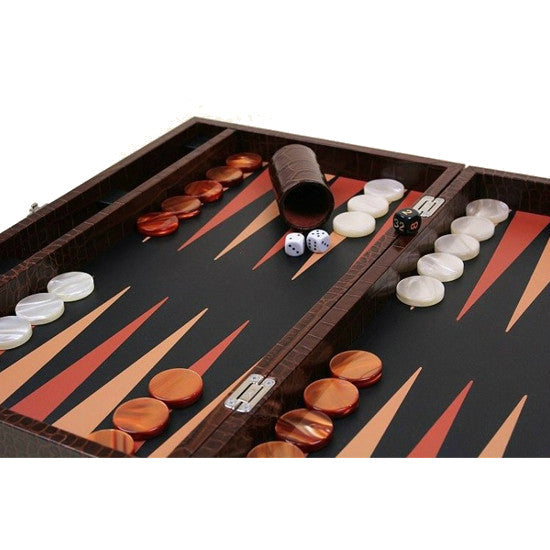 LARGE BACKGAMMON SET BY RENZO ROMAGNOLI - Luxxdesign.com - 1