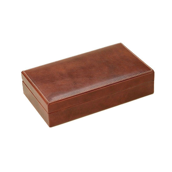 LARGE LEATHER DOMINO BOX BY RENZO ROMAGNOLI - Luxxdesign.com - 1