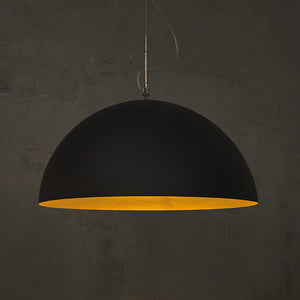 MEZZA LUNA BLACK MATT PENDANT LIGHT BY IN-ES.ARTDESIGN - Luxxdesign.com - 2