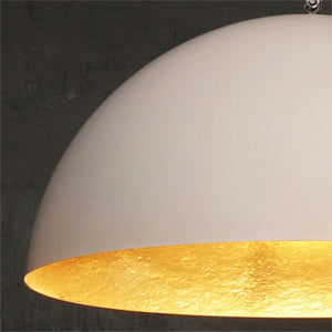MEZZA LUNA WHITE MATT PENDANT LIGHT BY IN-ES.ARTDESIGN - Luxxdesign.com - 1