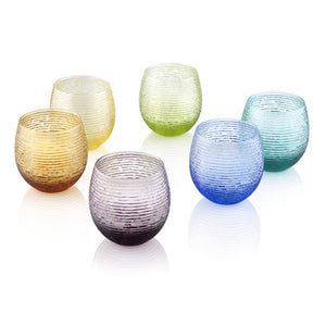 MULTICOLOR SET OF 6 WATER GLASSES BY IVV - Luxxdesign.com - 1