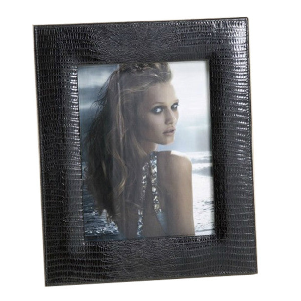 LARGE BLACK THESIUS LEATHER PHOTO FRAME BY RENZO ROMAGNOLI - Luxxdesign.com