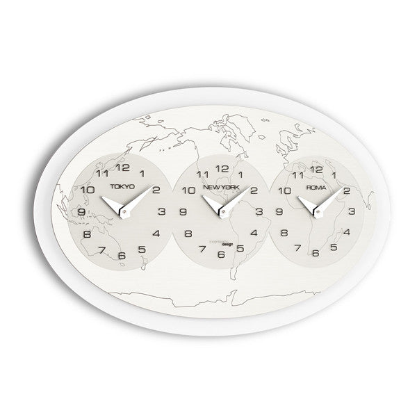 TRE ORE NEL MONDO WALL CLOCK BY INCANTESIMO DESIGN - Luxxdesign.com
