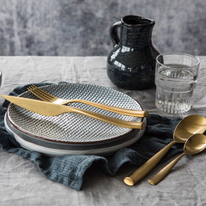 ARTE ICE ORO 24-PIECE CUTLERY SET BY MEPRA - Luxxdesign.com