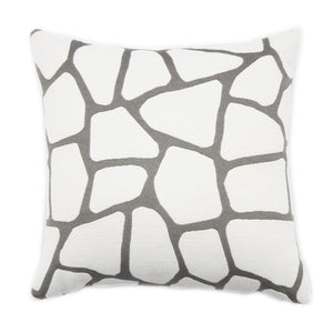 GLAMOROUS GREY CARRE' CUSHION 43x43 BY L'OPIFICIO - Luxxdesign.com - 2
