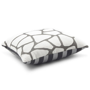 GLAMOROUS GREY CARRE' CUSHION 43x43 BY L'OPIFICIO - Luxxdesign.com - 1