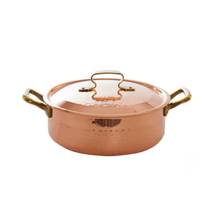 COPPER LOW SAUCEPAN TWO HANDLES WITH LID