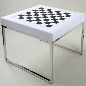 LUXOR WHITE CROCCO SMALL MULTIGAME TABLE BY RENZO ROMAGNOLI