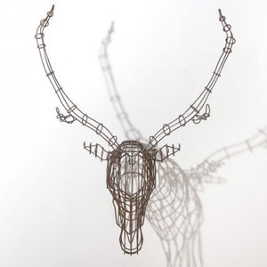 STAG HEAD WALL ART BY BAREL - Luxxdesign.com