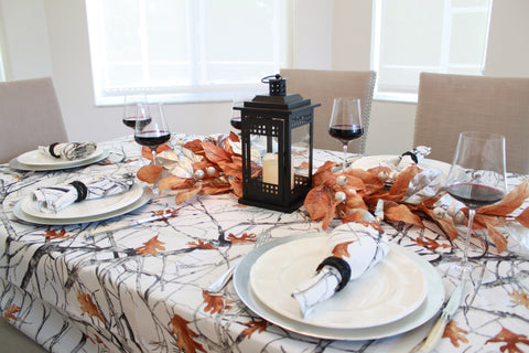 Christmas or Thanksgiving Tablecloth by True Timber Snowfall