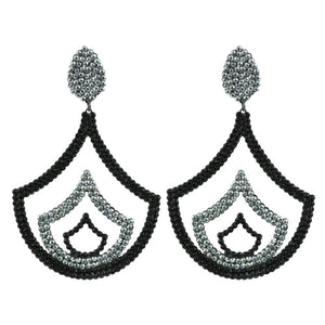 GET IT ON (Black & Silver crystals) - shopclaudialobao