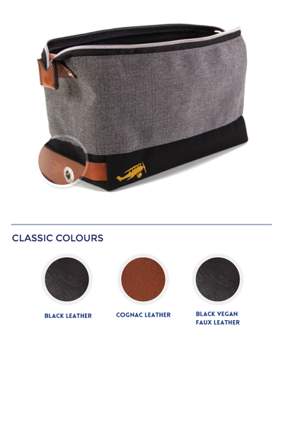 Vesper Faering Toiletry Bag Leather Colour Options