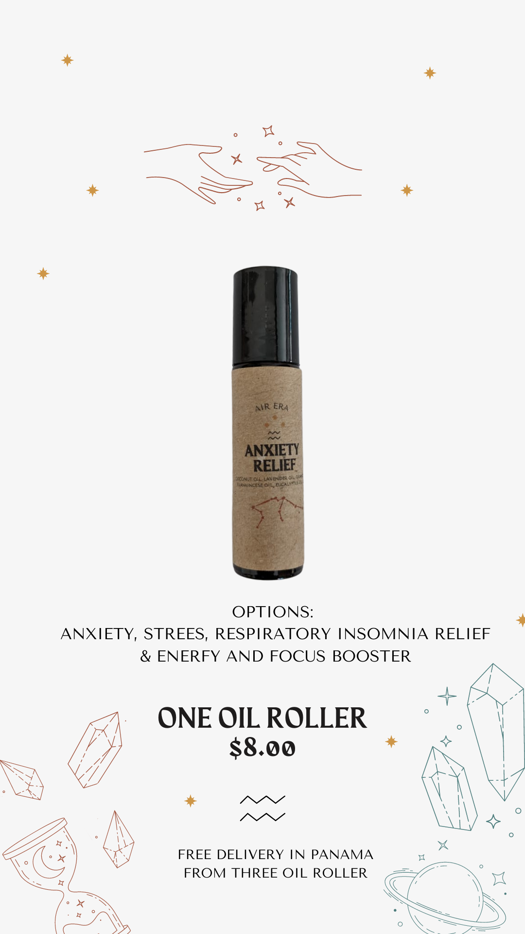 Organic Oil Rollers
