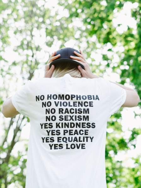No Homophobia T-Shirt - White
