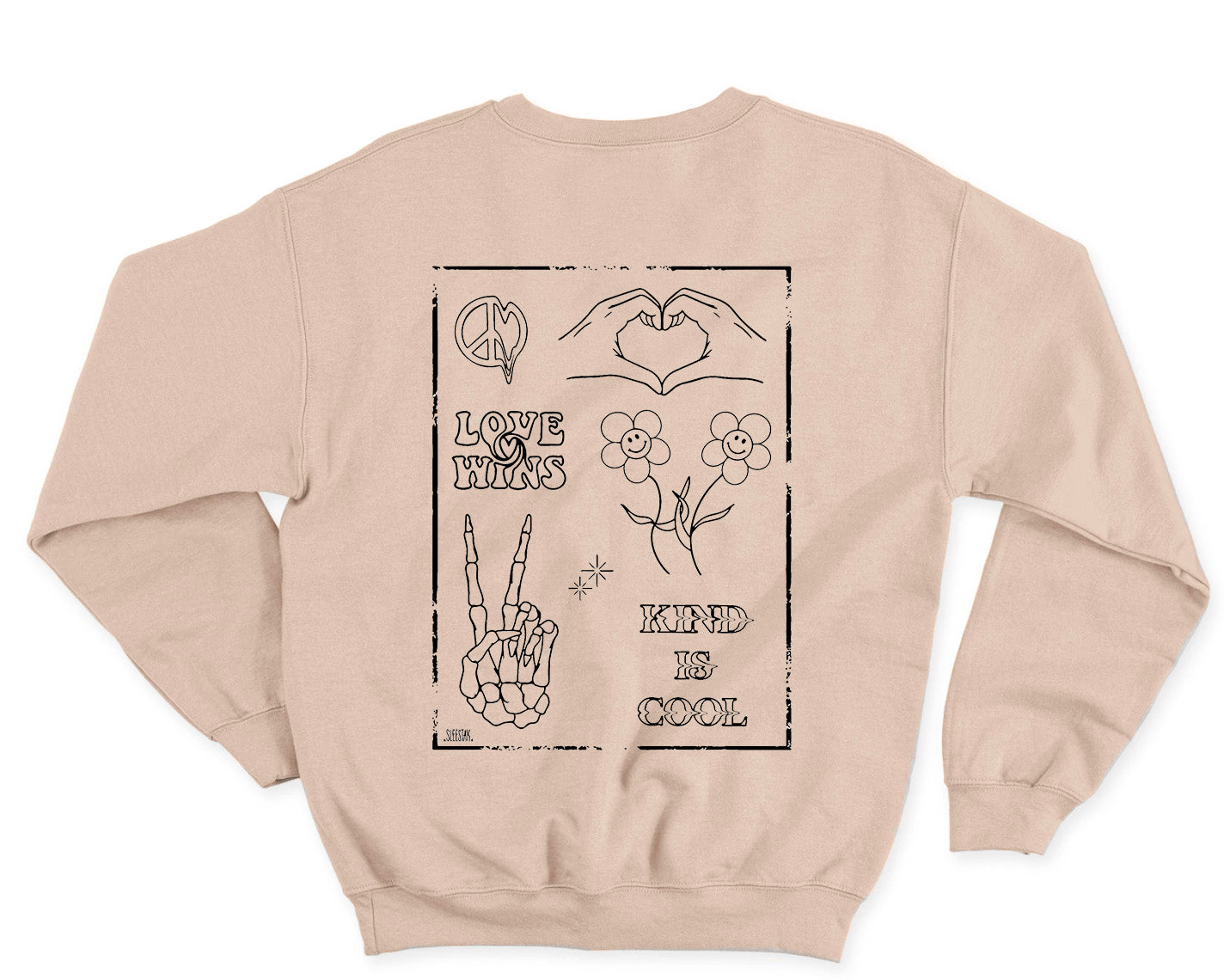 Love Wins - Beige Crewneck