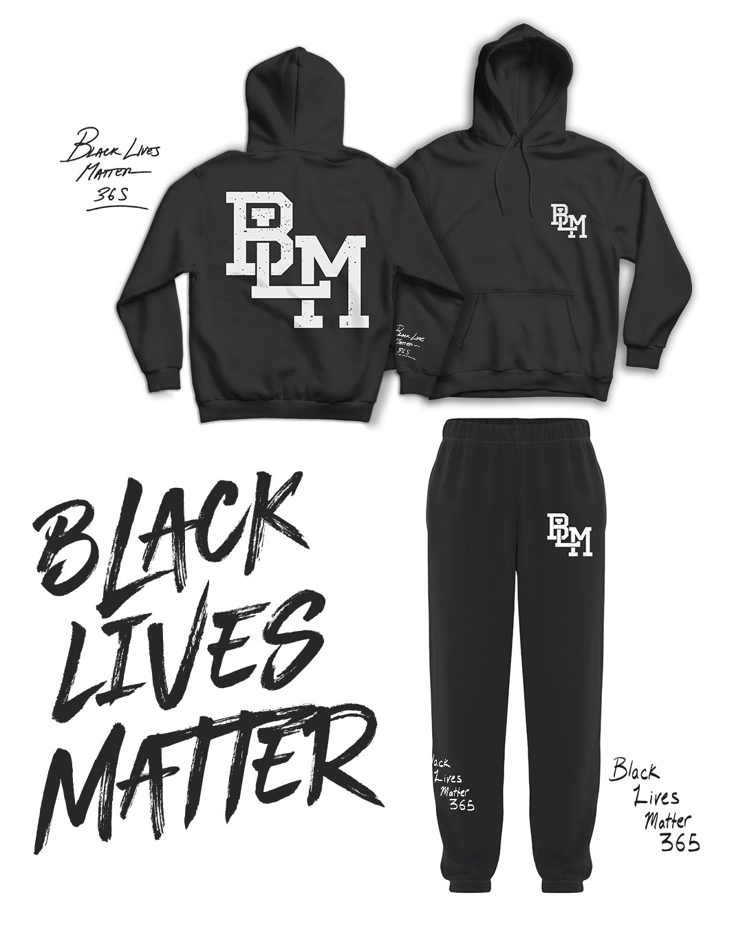 BLM Icon Black Sweatpants