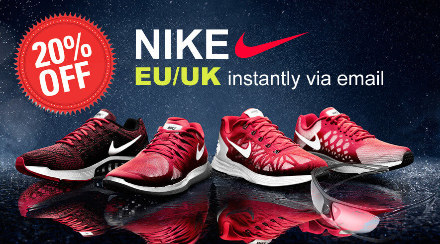 20% off on Nike in USA