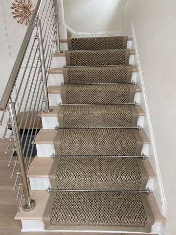 Sovereign Chrome Stair Rods on Staircase