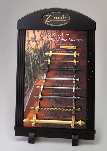 Stair Rod Plaque Display