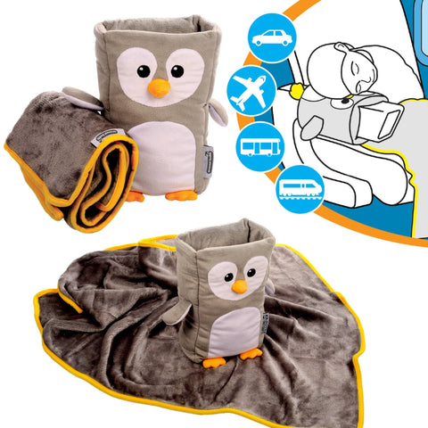 Armrest Buddy Travel Pillow & Blanket - Transforms Any Armrest Into a Comfy Pillow