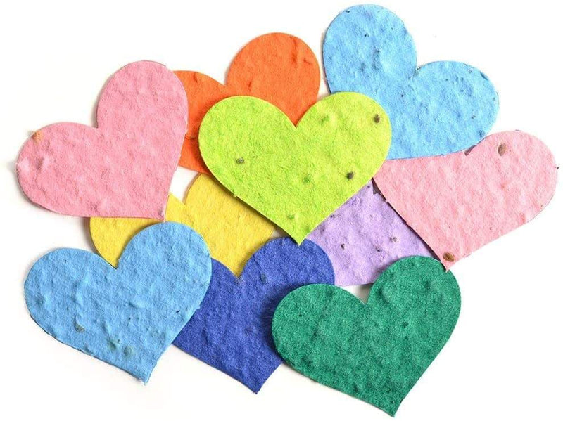 Roamwild Seeded Paper Shapes - Pack Of 100 (Heart)