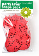 Roamwild Seeded Paper Shapes - Pack Of 100 (Ladybird)
